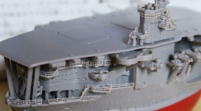 フジミ ちび丸艦隊 赤城 レビュー その2 エッチング編