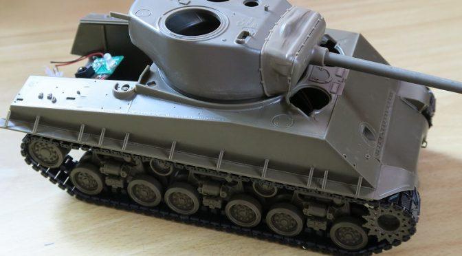 アスカモデル シャーマン 戦車模型のラジコン化 その2 走行動画
