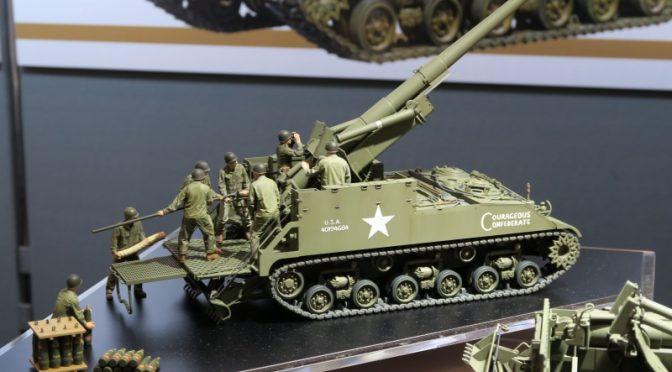 タミヤ 1/35 アメリカ155mm自走砲 M40  ビッグショット MM35351 模型ホビーショー2016