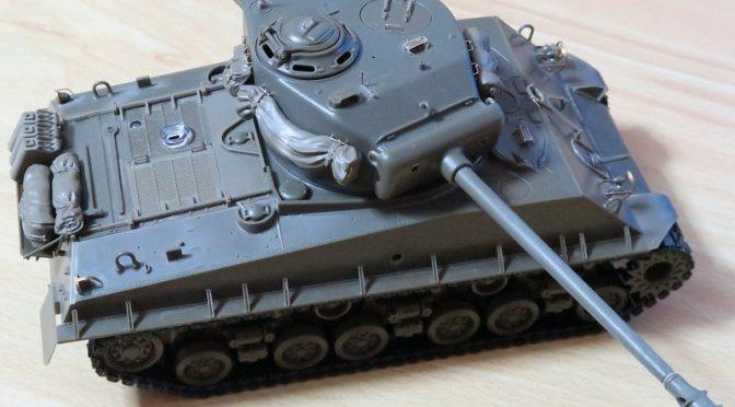 アスカモデル シャーマン 戦車模型のラジコン化 その3 OVM取り付け