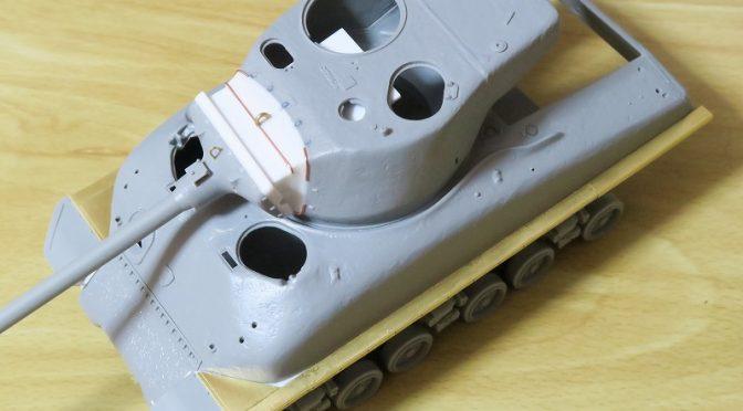 ドラゴン 1/35 スーパーシャーマン M51 その1 砲身の可動化