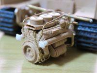 ライフィールド フルインテリア ティーガー1 レビュー その5 エンジンにモデルカステンの蝶ネジ